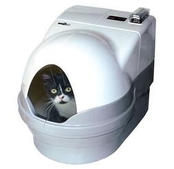 Cat Litter Trays-Self Cleaning Box With Cover Up Kitty Dome