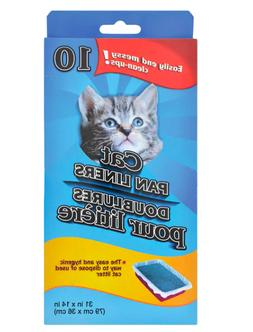 Cat Pan/Litter Box Liner Bags, Two 10-ct. Boxes 20 Total Fas