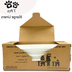 PET N PET Cat Pan Litter Box Liners 7 Counts XLarge Size Hea
