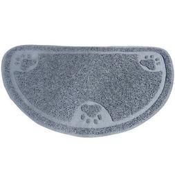 Evelots Cat Pet Paw Litter Mat, Half Circle, Kitty Litter Ru