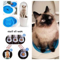 Cat Plastic Toilet Training Litter Kit Box Pet Cleaning Urin
