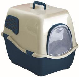 Cat Supplies Bill 2F Deluxe Enclosed Cat Pan X - Large Blue/