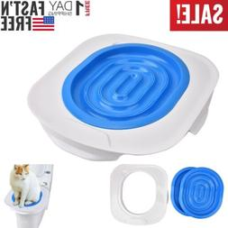 Cat Toilet Seat Potty Training Kit for Kitty Pet Disappearin