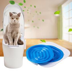 Cat Toilet Training Kit Cleaning System Pets Potty Urinal Li