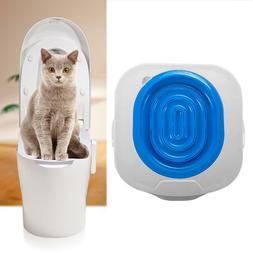Cat Toilet Training Kit Litter Tray Box Trainer Pets Kitty C