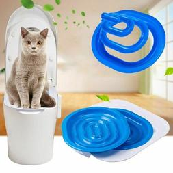 Cat Toilet Training Kit Pet Trainer Puppy Cat Litter Box Pet
