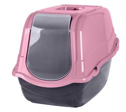 Cat Tray Large Hooded Cat Toilet High Side Filter Box Pink L
