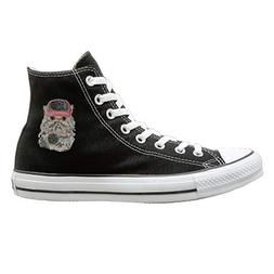 Sakanpo Cats Rule Canvas Shoes High Top Casual Black Sneaker