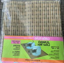 cats rule jumbo cushioned litter mat 50x40