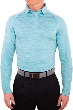 CC Performance Athletic Slim Fit Long Sleeve Golf Shirts for