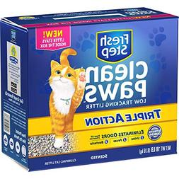 Fresh Step Clean Paws Triple Action Scented Litter, Clumping