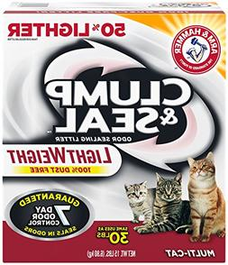Arm & Hammer Clump & Seal Lightweight Litter, Multi-Cat, 15