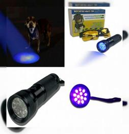 Compact and Bright LED UV Blacklight Flashlight - Pet Urine