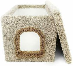 condos litter box carpeted enclosure large beige