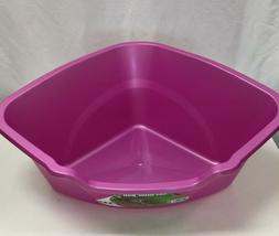 Vanness Corner High Sides Cat Litter Pan- Large, Choice of P