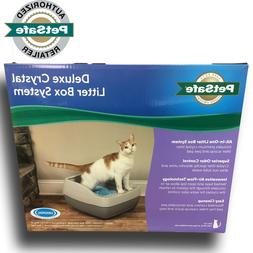 deluxe crystal cat litter system
