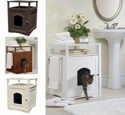 Discreet Cat Litter Box Hidden House Small Dog Pet Nightstan