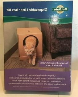PetSafe Disposable Cat Litter Box, Collapsible Covered Desig