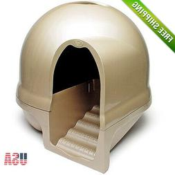 Booda Dome Clean Step Cat Covered Litter Box Pearl Titanium