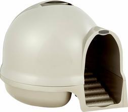Booda Dome Cleanstep Litter Box By Booda, Color Nickel/ Tita