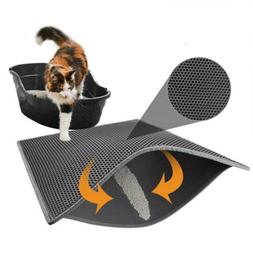 Double-Layer Cat Litter Box Mat Trapper Foldable Pad Pet Rug