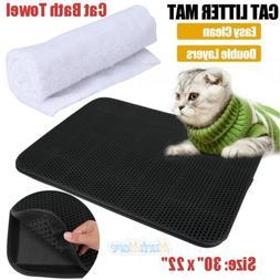 Double-Layer Cat Litter Box Mat Trapper Foldable EVA Pad Pet