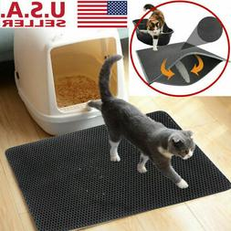 Double-Layer Cat Litter Box Mat Trapper EVA Pad Pet Foam Rub