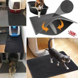 Double-Layer Cat Litter Mat Trapper Foldable Pad Pet Rug EVA