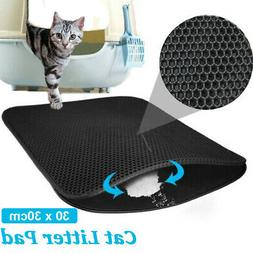 Double-Layer EVA Waterproof Cat Litter Box Mat Trapper Pet P
