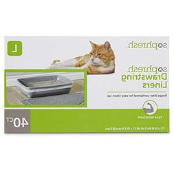 "So Phresh Drawstring Cat Litter Box Liners 17"" L x 30"" W, 40"