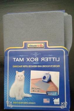"Drymate Large Waterproof Gray Cat Litter Mat / 20"" x 28"" / B"