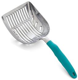 DuraScoop Jumbo Cat Litter Scoop, All Metal End-to-End with