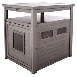 New Age Pet echoFLEX Litter Loo End Table - Gray
