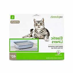 "So Phresh Elastic Cat Litter Pan Liners, 17"" L x 32"" W"