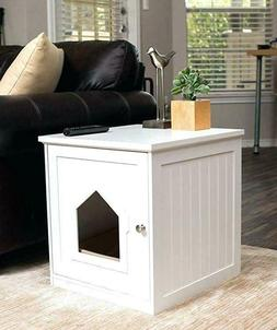 Enclosed Cat Litter Box Hidden Large Covered Furniture Kitty