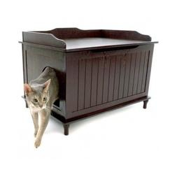 Enclosed Litter Box Cat Covered Large Kitty Furniture Hidden