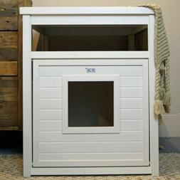 End Table Covered Litter Cat Box Enclosure Cats Pan Tidy Deo