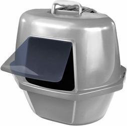Cats Box Cat Litter Box, Corner Enclosed Cat Pan Odor & Stai