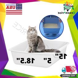Extra Large Cat Litter Box Big Kitty High Back Pan Pet Anima