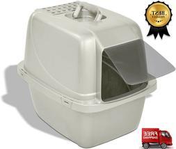 Extra Large Cat Litter Box Enclosed Sifting Pan Hooded Jumbo