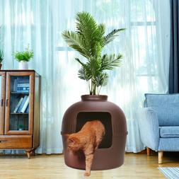 Extra Large Hidden Cat Litter Box Enclose Hooded Jumbo Cover