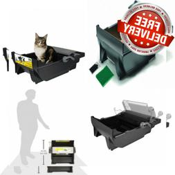 Pet Zone EZ Scoop No Touch Cat Litter Box with Filters and W