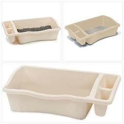 Petmate Giant Litter Pan Cat Litter Box with Side Storage Bl