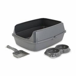 "So Phresh Grey Litter Box Starter Bundle, 19.5"" L X 14.75"" W"