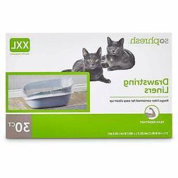 So Phresh Drawstring Cat Litter Box Liners XXLarge