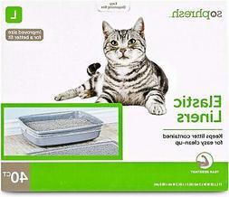 So Phresh Elastic Cat Litter Box Liners Large