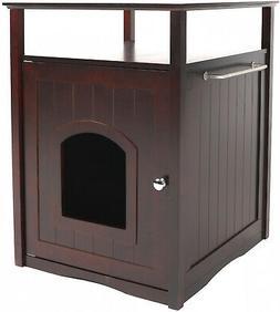 Hidden Litter Box Cat Furniture Espresso Finish Pet Supplies