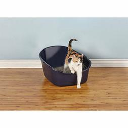 "So Phresh High-Back Litter Box in Navy, 23"" L x 19"" W x 12"""