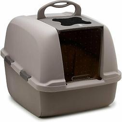 Catit Hooded Cat Litter Pan - Gray