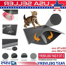 HOT Cat Litter mat Large Kitty Litter Box Trapping Sifting M